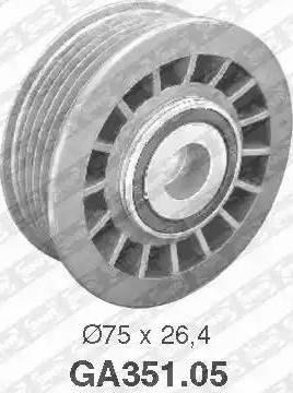 SNR GA351.05 - Alternatör Gergi Rulmanı , Kanallı V-Kayısı parcadolu.com