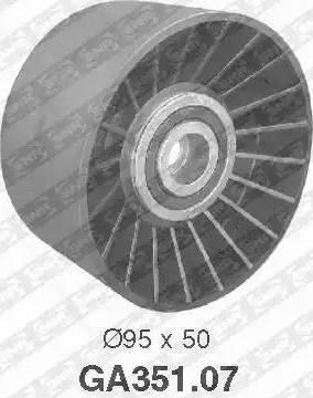 SNR GA351.07 - Alternatör Gergi Rulmanı , Kanallı V-Kayısı parcadolu.com