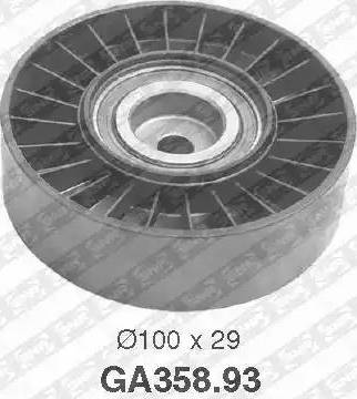 SNR GA358.93 - Alternatör Gergi Rulmanı , Kanallı V-Kayısı parcadolu.com