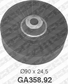 SNR GA358.92 - Alternatör Gergi Rulmanı , Kanallı V-Kayısı parcadolu.com