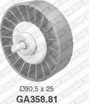 SNR GA358.81 - Alternatör Gergi Rulmanı , Kanallı V-Kayısı parcadolu.com