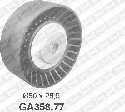 SNR GA358.77 - Alternatör Gergi Rulmanı , Kanallı V-Kayısı parcadolu.com