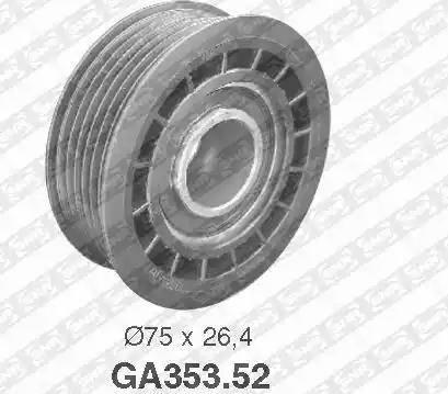SNR GA353.52 - Alternatör Gergi Rulmanı , Kanallı V-Kayısı parcadolu.com