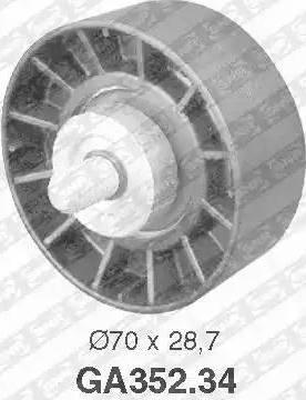 SNR GA352.34 - Alternatör Gergi Rulmanı , Kanallı V-Kayısı parcadolu.com